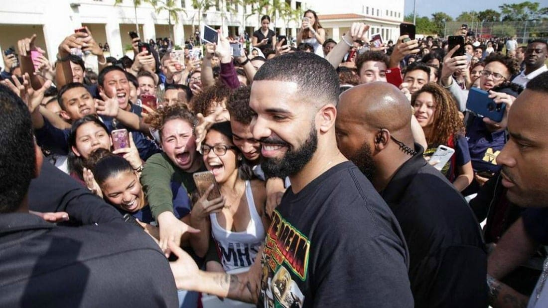 Drake shoots music video at a high school