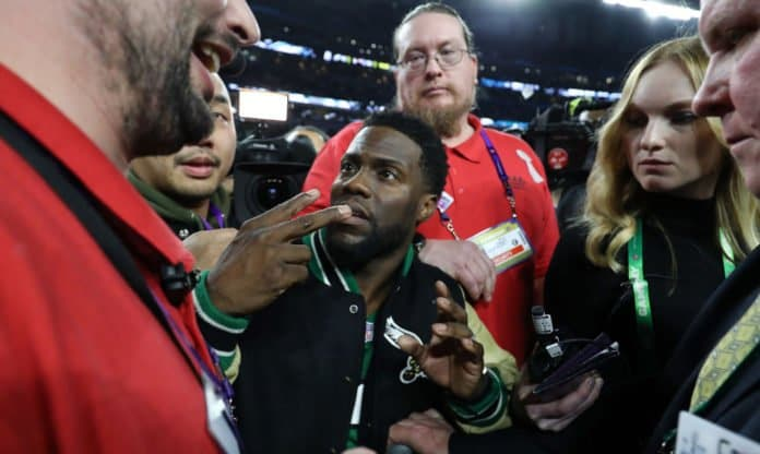 kevin hart at the super bowl thegrio.com