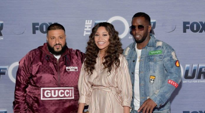 Diddy, DJ Khaled, Evvie McKinney @ The Four finale