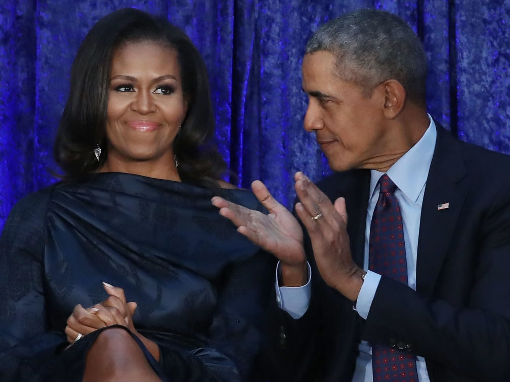 Michelle Obama's 'dance party' with toddler in viral photo