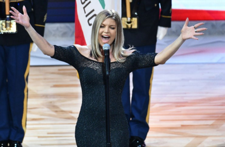 Fergie @ NBA All-Star game, 2018