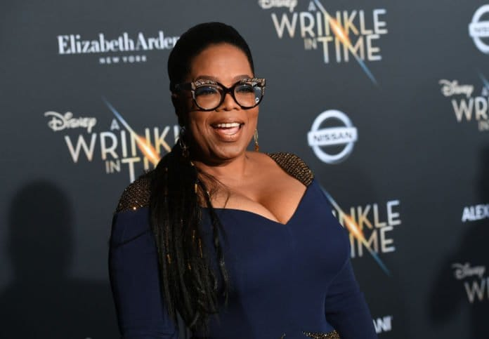 LOS ANGELES, CA - FEBRUARY 26: Oprah Winfrey attends the premiere of Disney's