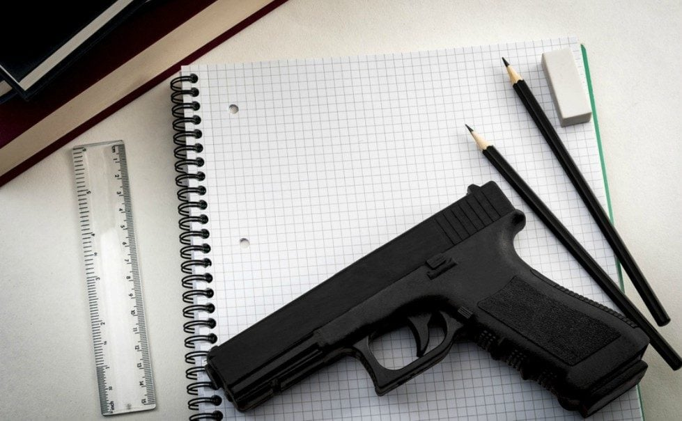 School district under scrutiny after kids get hold of gun intended to thwart shooter