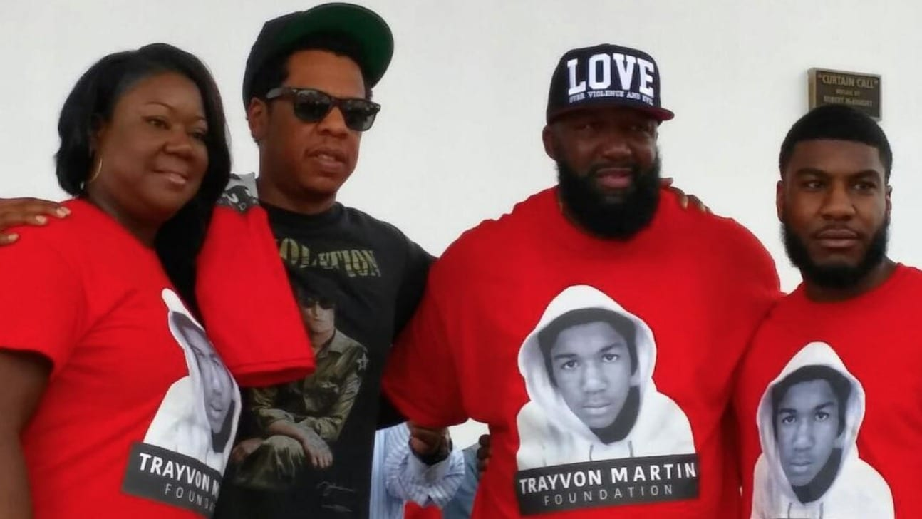 Jay-Z makes surprise appearance at Trayvon Martin Peace Walk in Miami