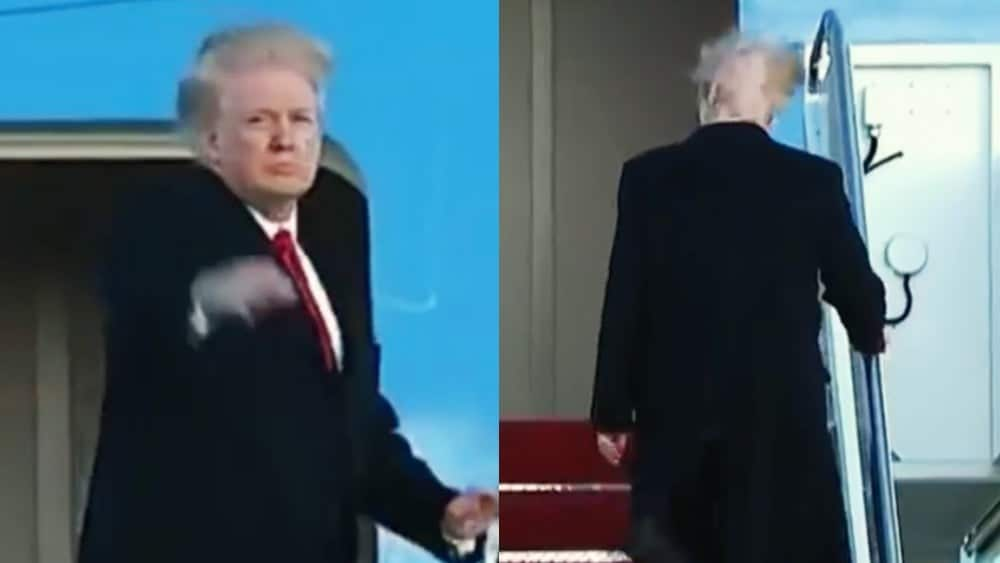 What's really going on with Donald Trump's hair in this video?