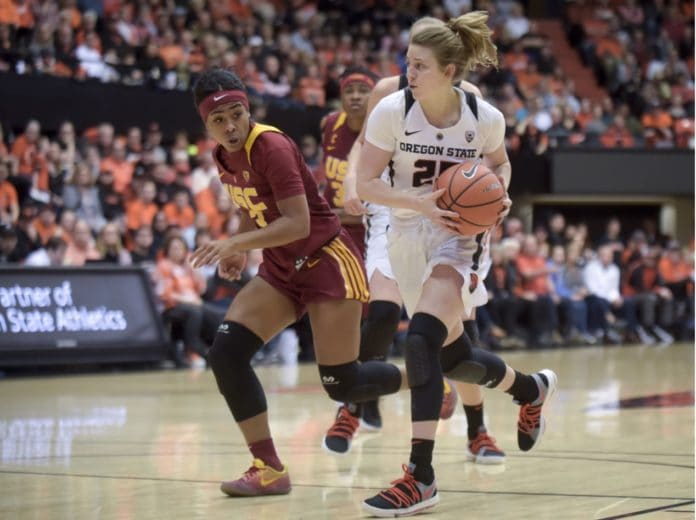 USC's Minyon Moore says Oregon St. fans hurled racial slurs. (Andy Cripe, Mid-Valley Media) thegrio.com