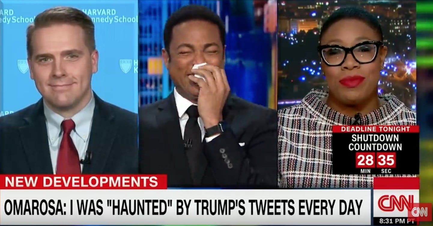 Don Lemon Cry Laughing At Cnn Guest Roasting Omarosa Is All The