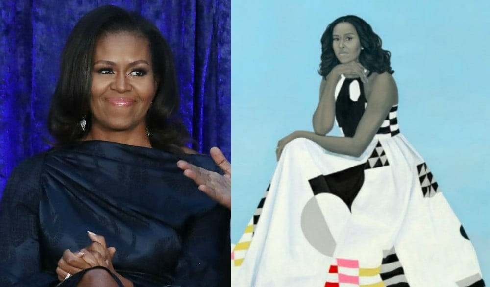Image result for portrait of michelle obama
