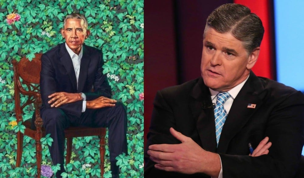 Sean Hannity trashes Obama portraits, calls them sexually ...