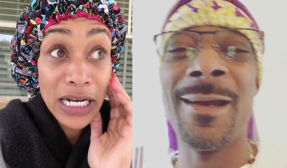 Tami Roman and Snoop Dogg turn scarves and bonnets Instagram