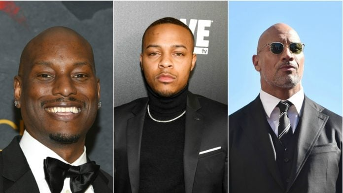 Tyrese, Dwayne Johnson, bow wow thegrio.com