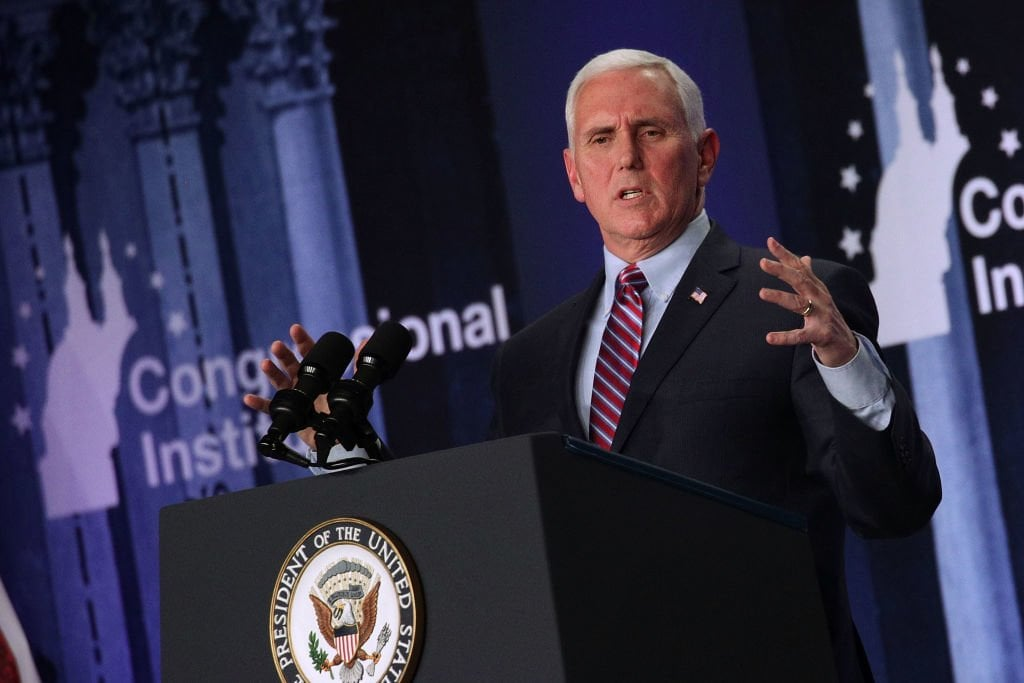 Parkland college students model firearm ban throughout Pence speech as NRA hypocrisy