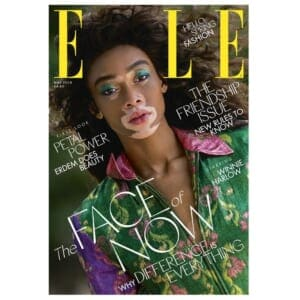 f61ef35a2bc Winnie Harlow on the cover of the May 2018 of Elle Magazine.
