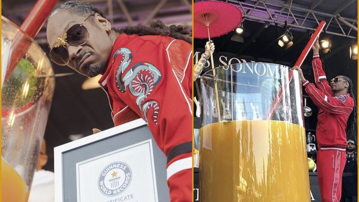 Snoop Dogg Sets Gin and Juice Guinness World Record