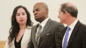 John Bunn cries after being exonerated by Supreme Court Justice Shawn'Dya Simpson for murder he didn't commit 17 years ago thegrio.com