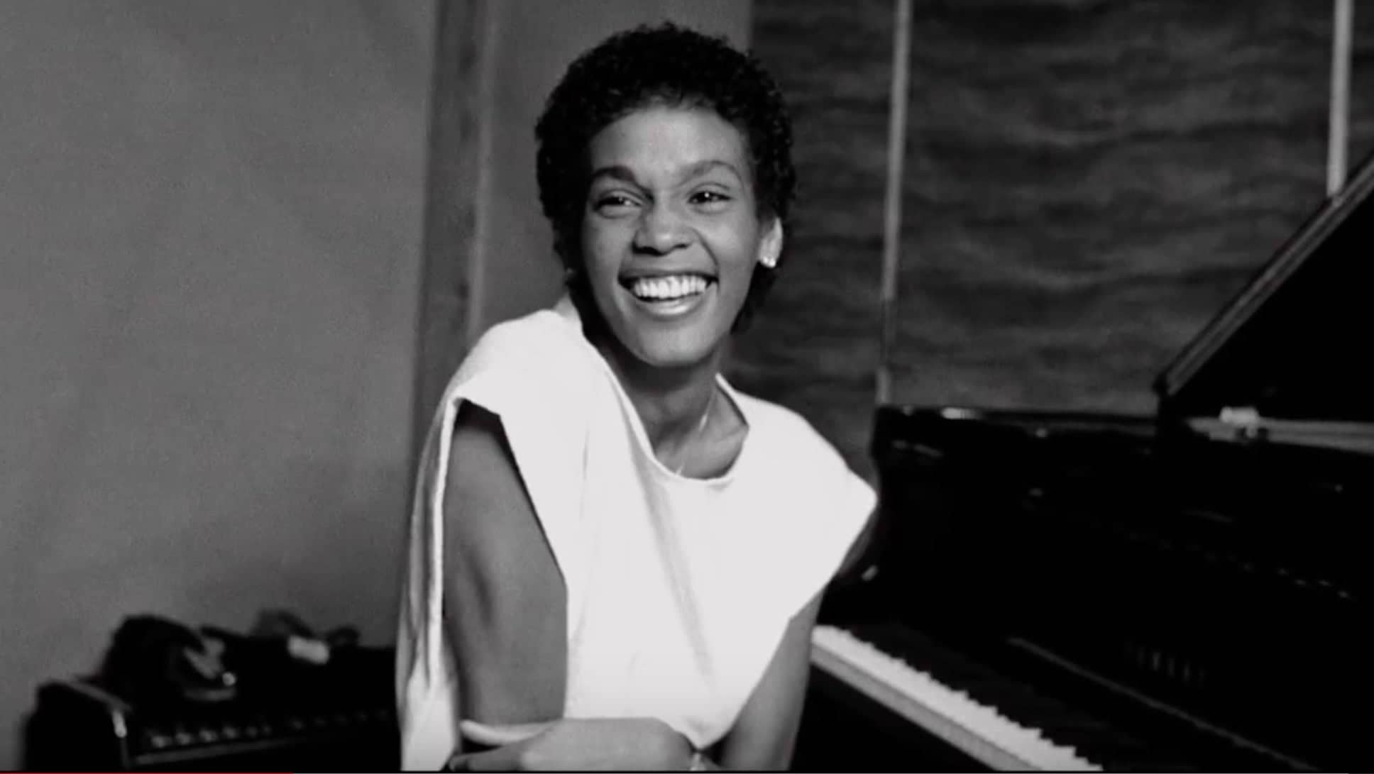 whitney black white. Contemporary White Whitney Houston Intended Black White