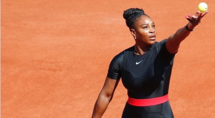 Serena Williams in controversial catsuit