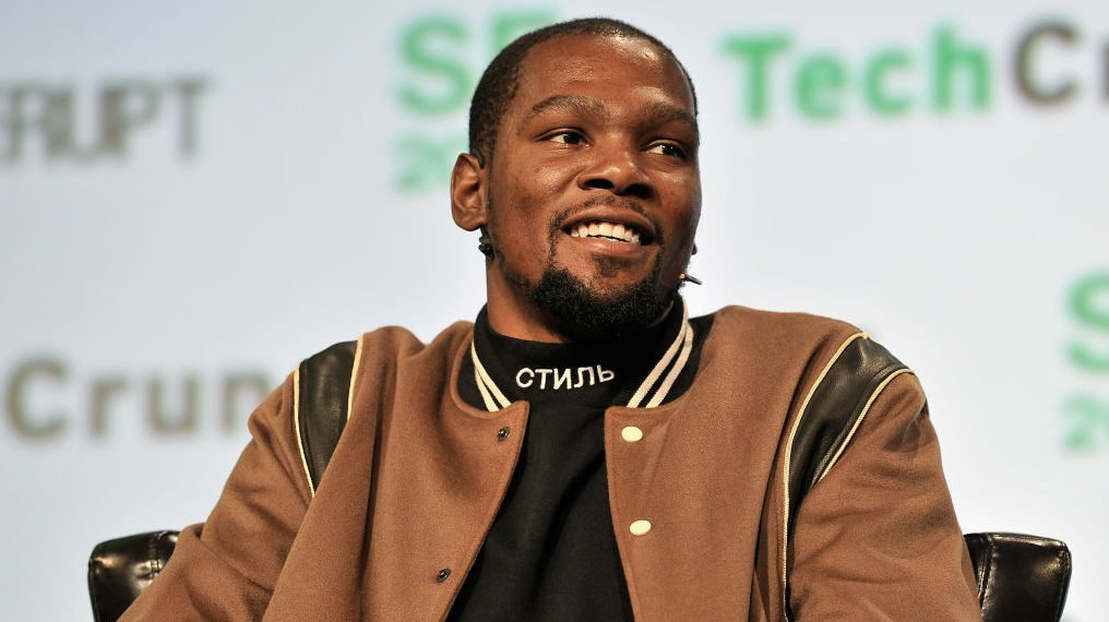 f05baad6d6d NBA Player and Durant Company Thirty Five Media Partner Kevin Durant speaks  onstage during TechCrunch Disrupt SF 2017 at Pier 48 on September 19