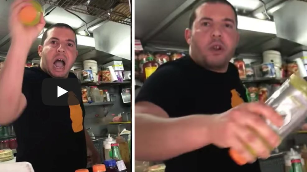 Victim forgives food cart owner accused of assault