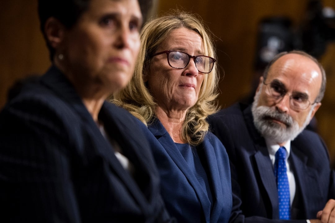 Image result for christine blasey ford + 2 lawyers