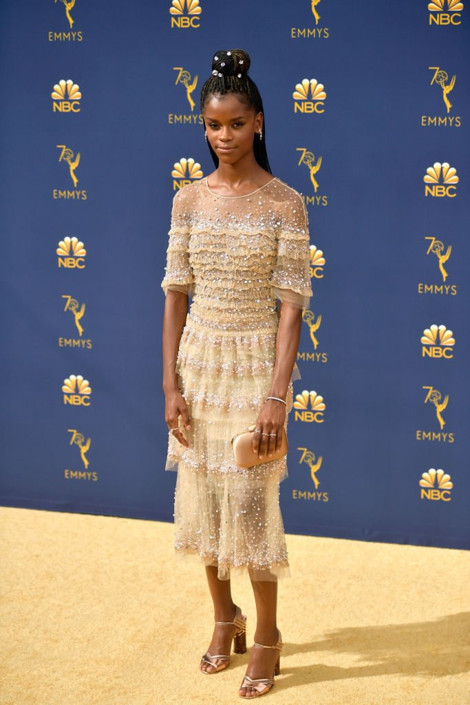 Letitia Wright attends the 70th Emmy Awards thegio.com