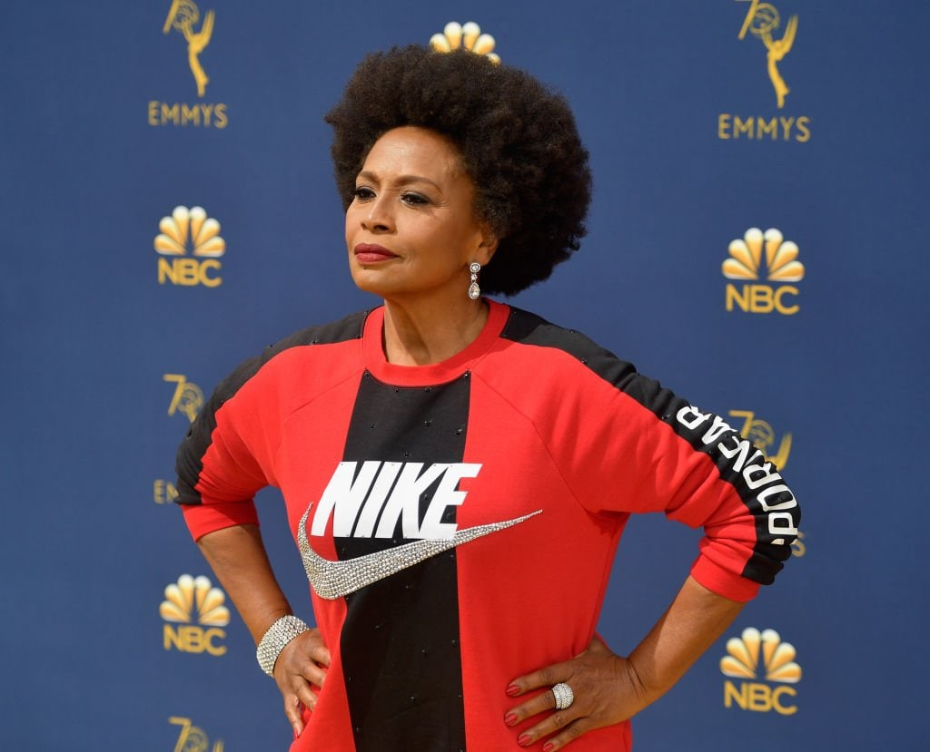 Black-ish actress Jenifer Lewis backs Nike on Emmys 'gold' carpet