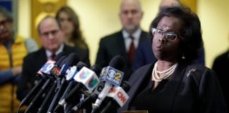 Special prosecutor Patricia Brown Holmes speaks to reporters at the courthouse Thursday, Jan. 17, 2019, in Chicago. Former Detective David March, ex-Officer Joseph Walsh and Officer Thomas Gaffney, three Chicago police officers accused accused of trying to cover up the fatal shooting of Laquan McDonald by officer Jason Van Dyke in October 2014, were acquitted by a judge Thursday. (AP Photo/Nam Y. Huh) thegrio.com