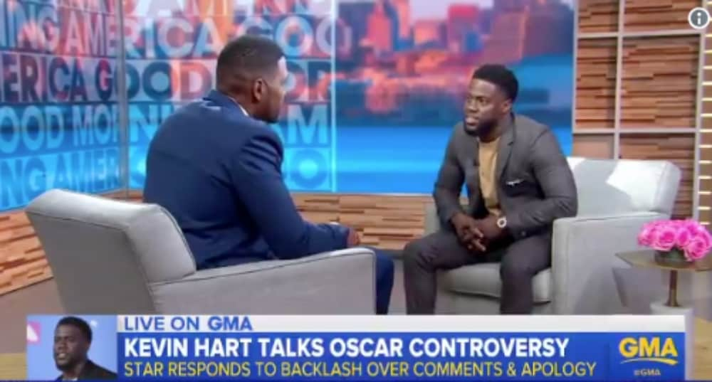 Kevin Hart says he won't be hosting 2019 Academy Awards