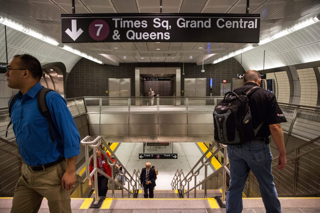MTA 7 subway train, thegrio.com