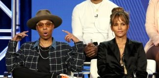 "Lena Waithe, left, and Halle Berry participate in the ""Boomerang"" panel during the BET presentation at the Television Critics Association Winter Press Tour at The Langham Huntington on Monday, Feb. 11, 2019, in Pasadena, Calif. (Photo by Willy Sanjuan/Invision/AP) thegrio.com"
