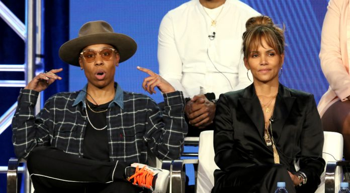"""Lena Waithe, left, and Halle Berry participate in the """"Boomerang"""" panel during the BET presentation at the Television Critics Association Winter Press Tour at The Langham Huntington on Monday, Feb. 11, 2019, in Pasadena, Calif. (Photo by Willy Sanjuan/Invision/AP) thegrio.com"""