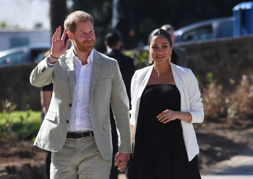he Duke And Duchess Of Sussex Visit Morocco RABAT, MOROCCO - FEBRUARY 25: Prince Harry, Duke of Sussex and Meghan, Duchess of Sussex walk through the walled public Andalusian Gardens which has exotic plants, flowers and fruit trees during a visit on February 25, 2019 in Rabat, Morocco. (Photo by Facundo Arrizabalaga - Pool/Getty Images) thegrio.com