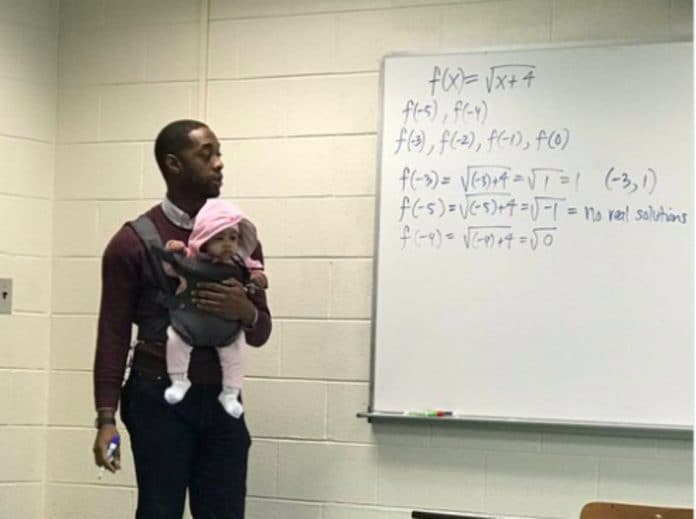 Morehouse professor goes viral for carrying student's child so he could take notes during lecture. thegrio.com
