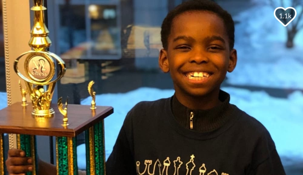 Homeless 8-year-old Nigerian refugee becomes chess champ and inspires donations