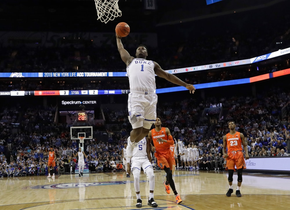 Likely NBA top pick Zion Williamson referenced at NCAA corruption trial
