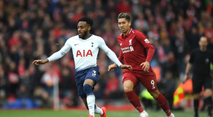 LIVERPOOL, ENGLAND - MARCH 31: Danny Rose of Tottenham Hotspur is close down by Roberto Firminho of Liverpool during the Premier League match between Liverpool FC and Tottenham Hotspur at Anfield on March 31, 2019 in Liverpool, United Kingdom. (Photo by Shaun Botterill/Getty Images) thegrio.com