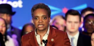 Lori Lightfoot speaks at her election night party Tuesday, April 2, 2019, in Chicago. Lori Lightfoot elected Chicago mayor, making her the first African-American woman to lead the city. (AP Photo/Nam Y. Huh) thegrio.com