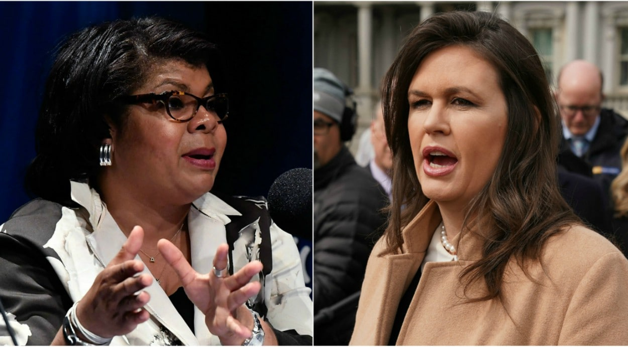 Sarah Sanders says CNN's April Ryan has called for her 'decapitation'
