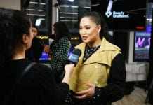 Ayesha Curry is interviewed as CVS Pharmacy unveils new beauty aisles featuring Unaltered brand partner 2019 beauty campaigns on January 24, 2019 in New York City. (Photo by Bryan Bedder/Getty Images for CVS Pharmacy)