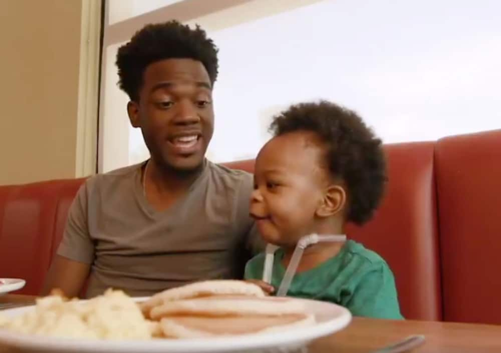 Babbling baby and dad who went viral for their conversation land Denny's campaign - theGrio