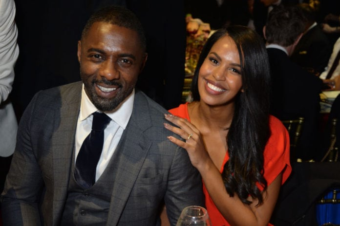 Idris Elba and Sabrina Dhowre attend The 64th Evening Standard Theatre Awards at the Theatre Royal, Drury Lane, on November 18, 2018 in London, England. (Photo by David M. Benett/Dave Benett/Getty Images)