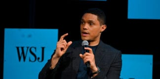 Trevor Noah speaks on stage during The Wall Street Journal's Future Of Everything Festival at Spring Studios on May 20, 2019 in New York City. (Photo by Nicholas Hunt/Getty Images)