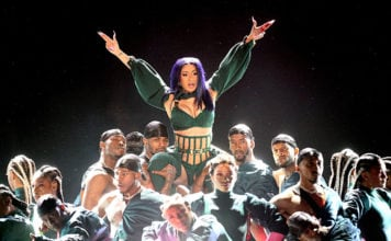 LOS ANGELES, CALIFORNIA - JUNE 23: Cardi B (C) performs onstage at the 2019 BET Awards at Microsoft Theater on June 23, 2019 in Los Angeles, California. (Photo by Frederick M. Brown/Getty Images for BET)