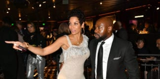 "Director and Executive Producer Antoine Fuqua (R) and Nicole Murphy attend the after party for the Los Angeles Premiere of ""What's My Name 