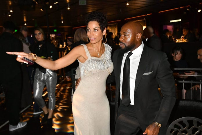 Director and Executive Producer Antoine Fuqua (R) and Nicole Murphy attend the after party for the Los Angeles Premiere of