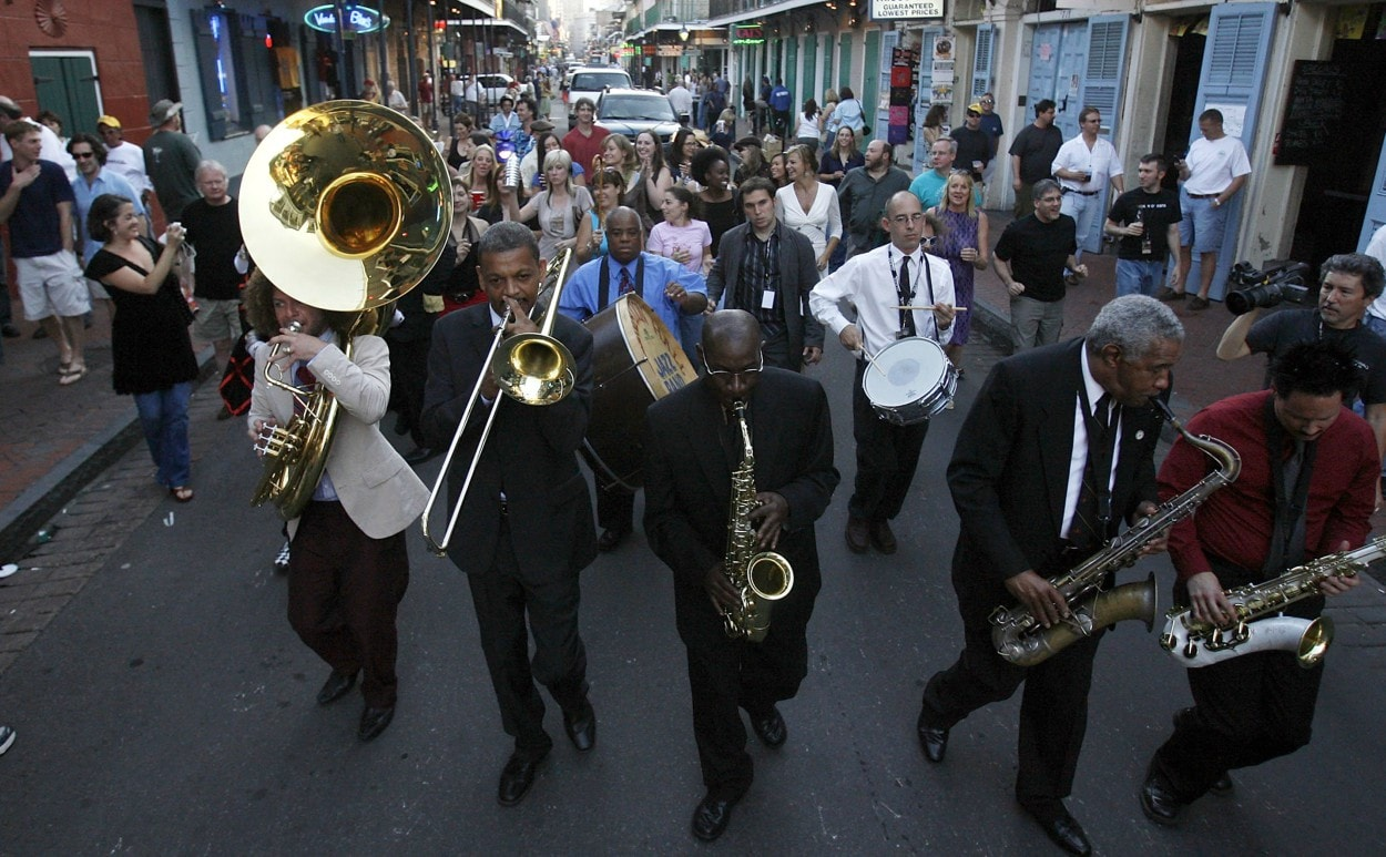 Popular New Orleans brass band member tackled by cops after bookstore owner makes call