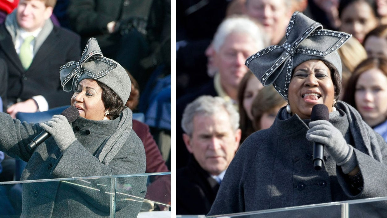 Barack Obama wants the hat Aretha Franklin wore to his 1st presidential inauguration