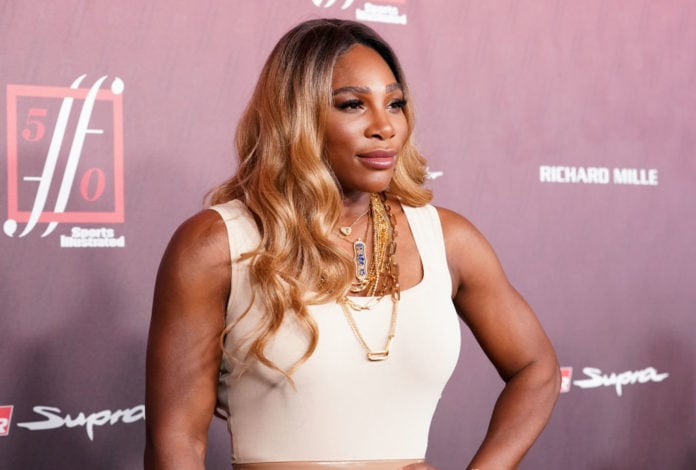 Serena Williams attends Sports Illustrated Fashionable 50 at The Sunset Room on July 18, 2019 in Los Angeles, California. (Photo by Rachel Luna/WireImage)