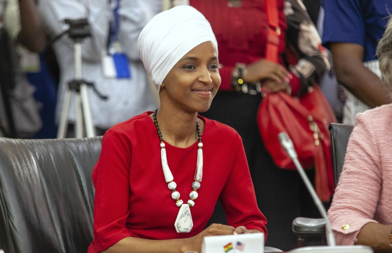 rep  ilhan omar uses africa visit to troll trump on
