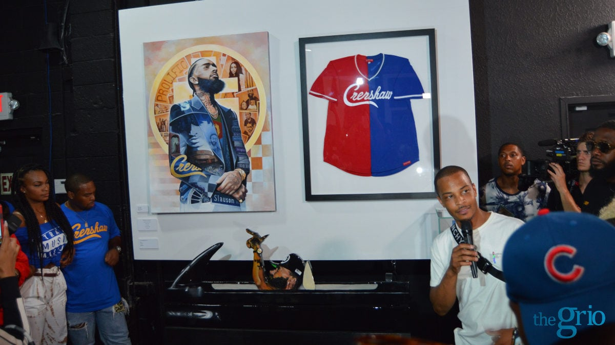 Sneak Peak: T I  unveils artwork honoring Nipsey Hussle at